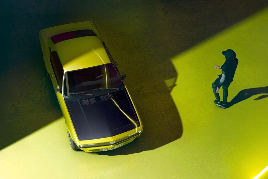 Moderne Opel Manta is letterlijk en figuurlijk groen